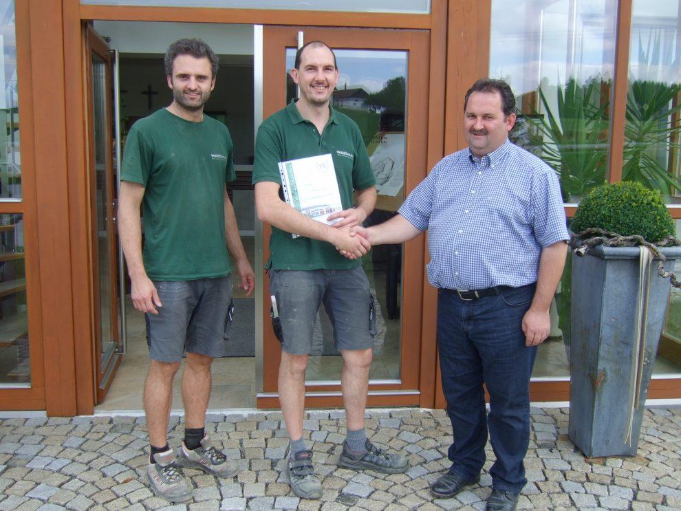 Waldbauer Mitarbeiterjubiläum Thomas Zöls 15 Jahre