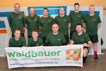 Mannschaftsfoto Waldbauer Holztechnik Fußballturnier Fürstenstein 2016