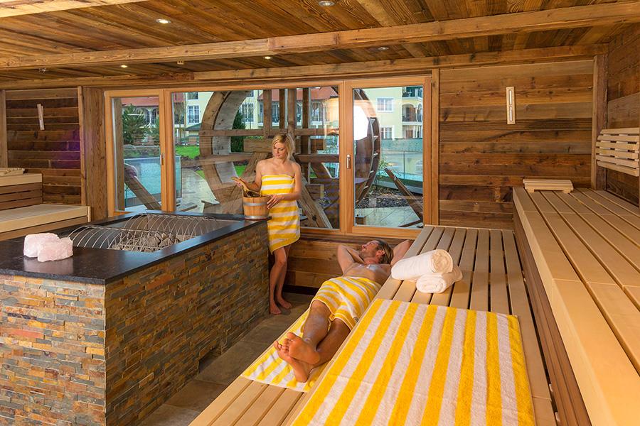 Jagdhof Sauna Einrichtung Waldbauer