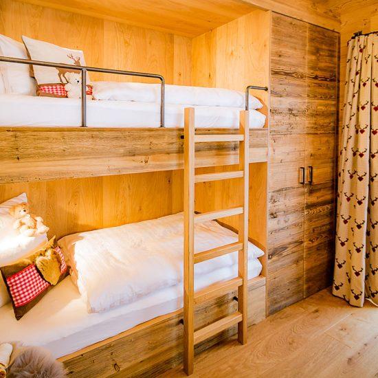 Das Wistlberg Chalet - Ansicht Kinderzimmer | Waldbauer Hotel- und Chaleteinrichtung