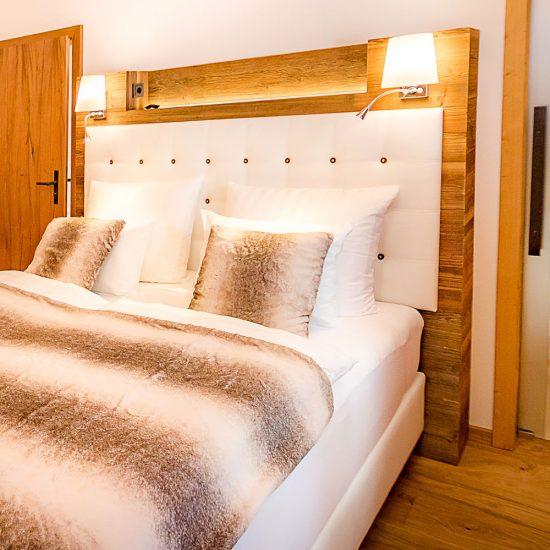 Das Wistlberg Chalet - Ansicht Schlafzimmer | Waldbauer Hotel- und Chaleteinrichtung