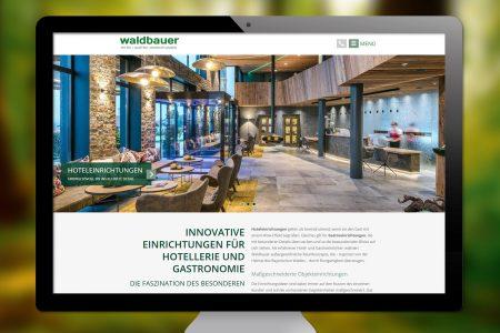 Neue Website www.waldbauer-holztechnik.de 2018 | Waldbauer Hoteleinrichtungen und Gastroeinrichtungen