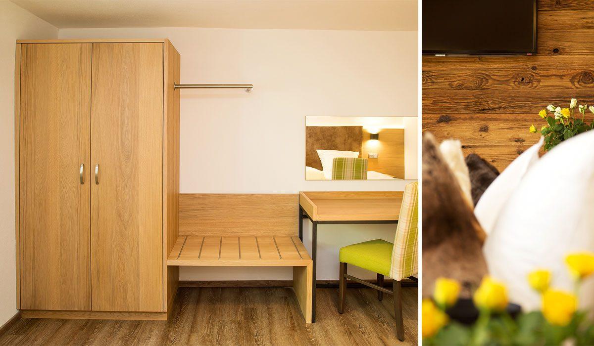 Waldbauer Komplettzimmer Silver Oak, Typ Family - Hotelzimmer bzw. Gästezimmer