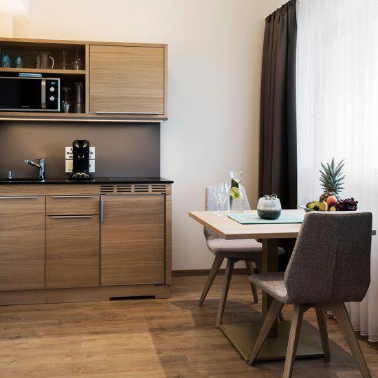 Thermalresort Köck Hotelzimmer | Doppelzimmer Garten - Küche