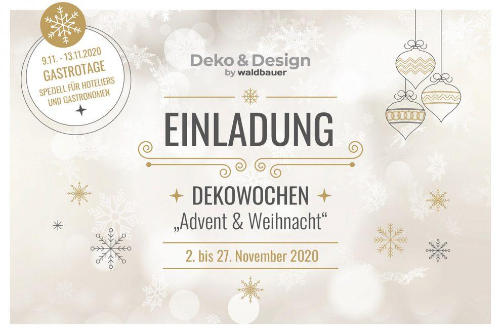 Einladung Dekowochen Advent & Weihnacht 2020 | Deko & Design by Waldbauer