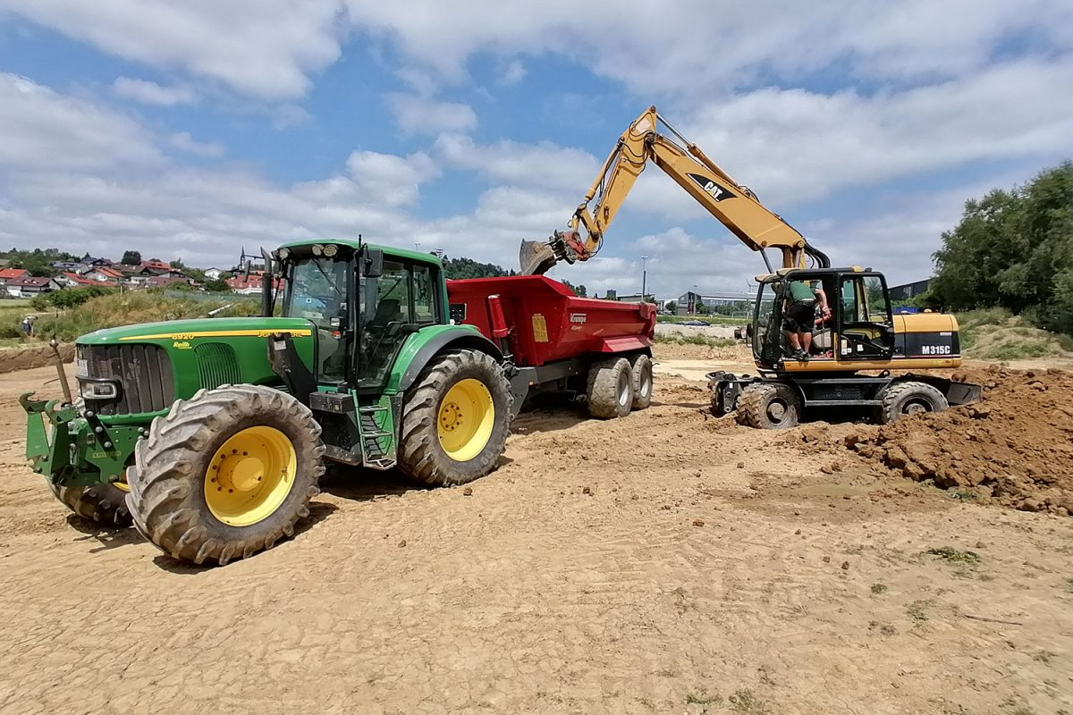 Bau der neuen Lagerhalle 002
