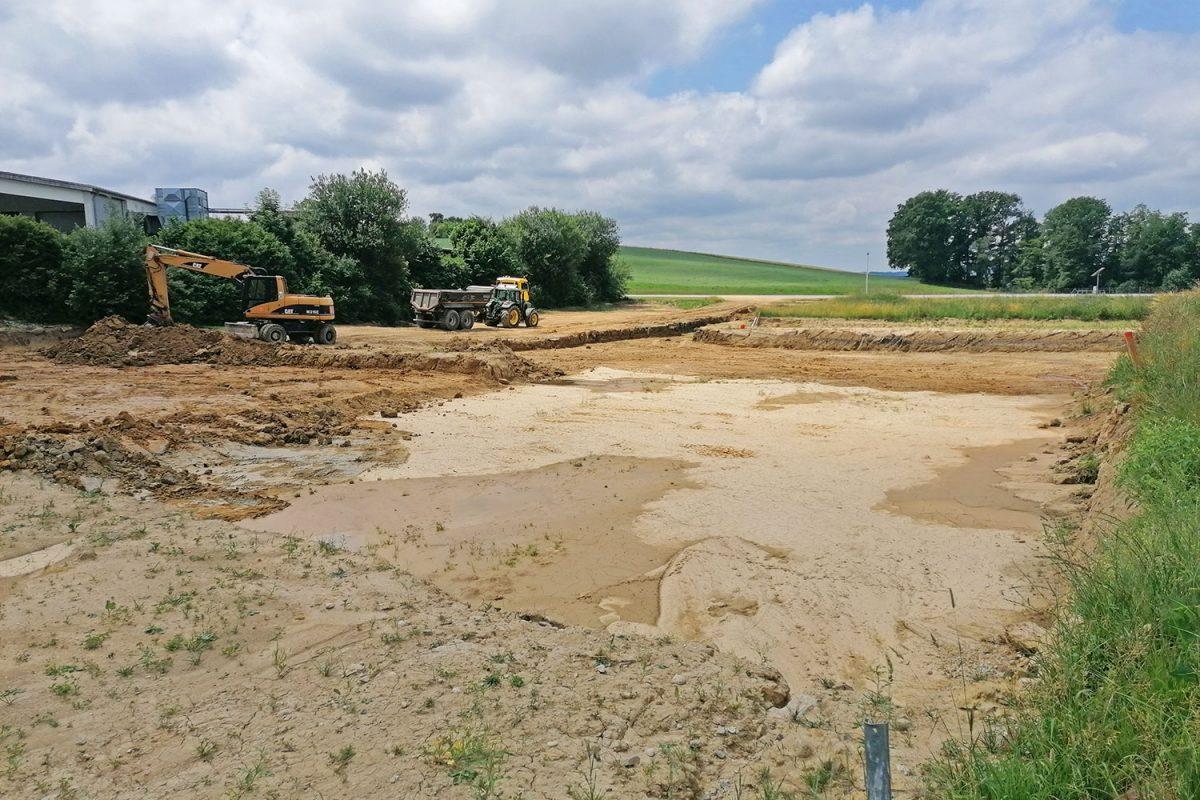 Bau der neuen Lagerhalle 003