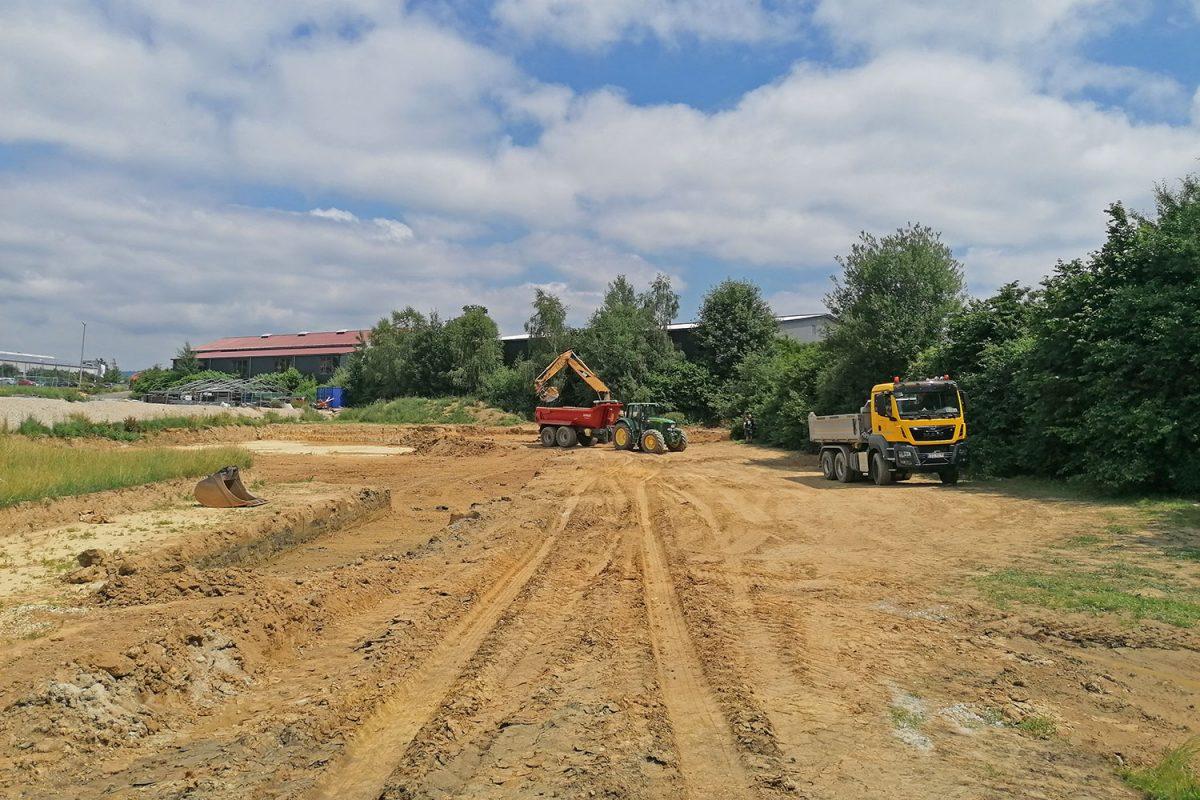 Bau der neuen Lagerhalle 004