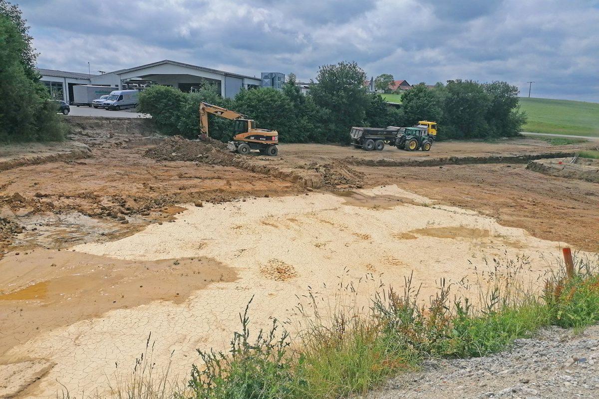 Bau der neuen Lagerhalle 005
